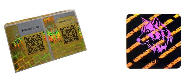 QR Code Hologram Sticker