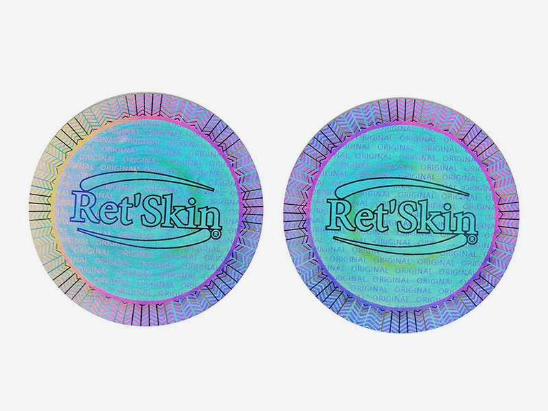 Self-Adhesive Round Hologram Sticker Void Label