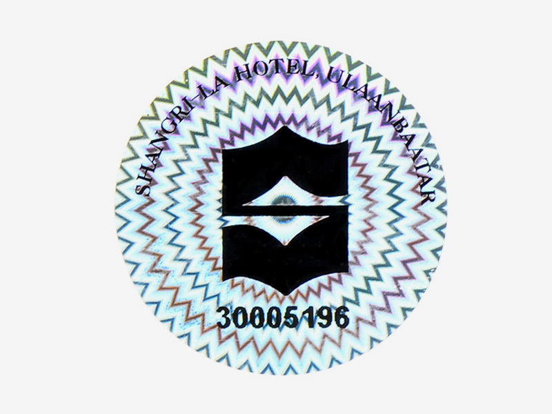 Genuine Secure Hologram Sticker With Numbering