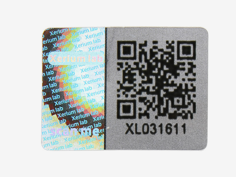 QR Code Sticker Hologram Holographic Sticker Printing