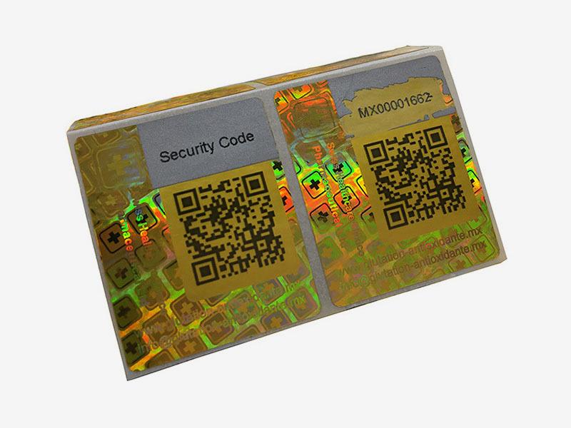 Golden Color Scratched Hologram Sticker Supplier