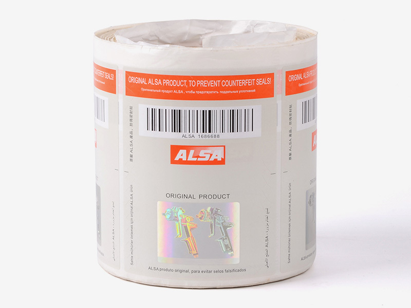 Positioned Stamping Hologram Security Labels 122