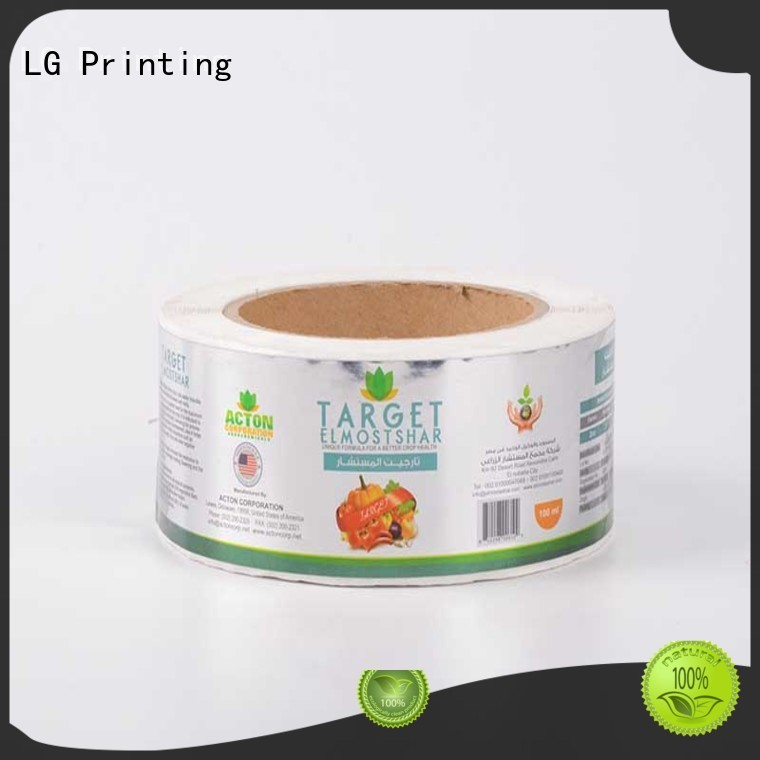 Quality LG Printing Brand bottle stickers adhesive labels