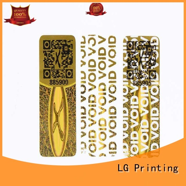 customized thickness rectangle qr code LG Printing Brand 3d hologram sticker manufacture
