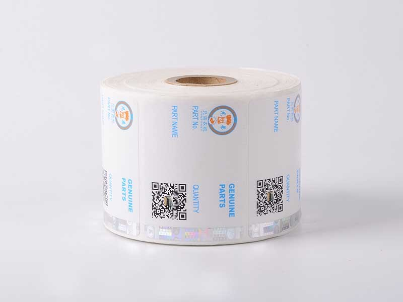 positioned silver security hologram labels LG Printing Brand