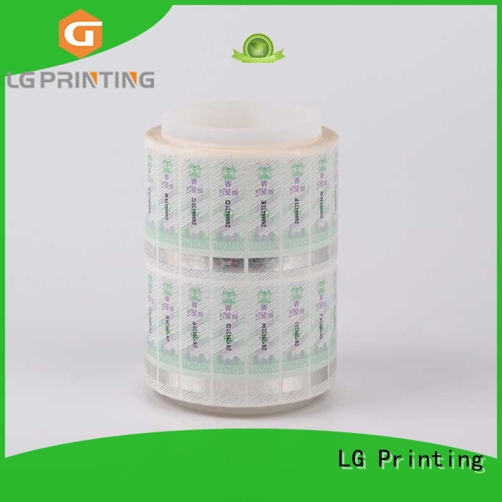 security hologram labels stickers counterfeiting security hologram LG Printing Brand