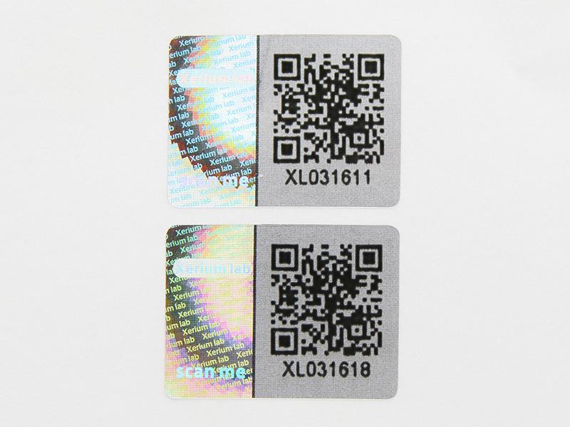 custom shape qr code 3d hologram sticker LG Printing Brand
