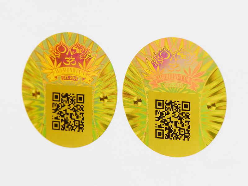 3d hologram sticker rectangle printing qr code Warranty LG Printing