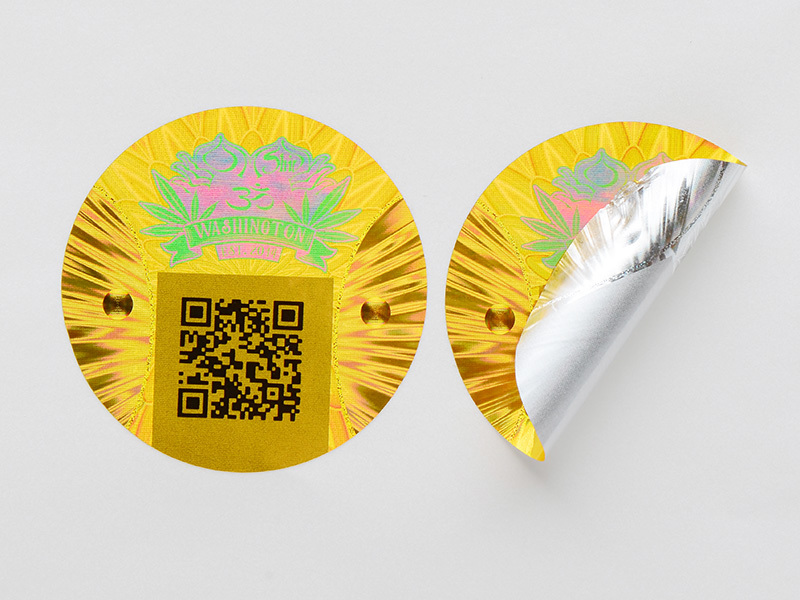holographic customized thickness qr code hologram sticker printing LG Printing Brand