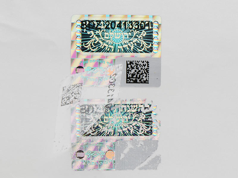 one time hologram sticker label for door LG Printing-2