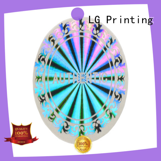 LG Printing golden holographic letter stickers supplier for door