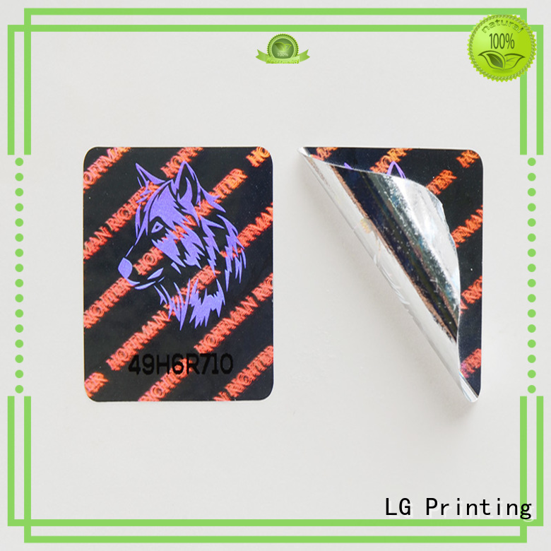 holographic void printing LG Printing Brand hologram sticker supplier