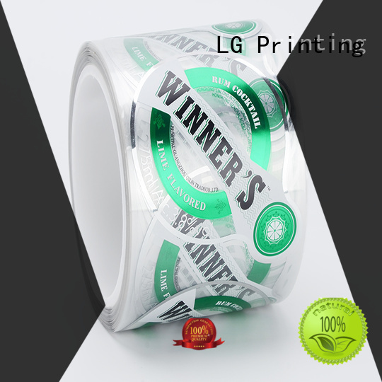 custom adhesive labels foil for wine bottle LG Printing