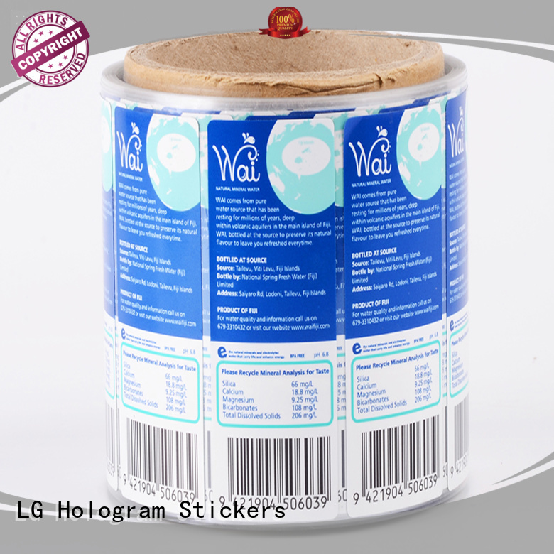 LG Printing transparent custom vinyl stickers manufacturer for bottle