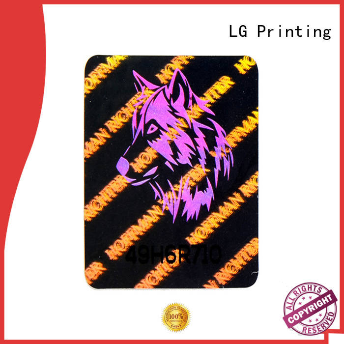 LG Printing void holo stickers manufacturer for door