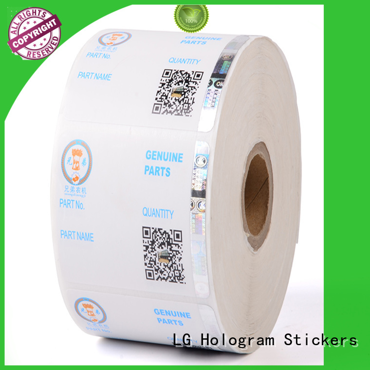 LG Printing sticker holographic sticker manufacturer for bag