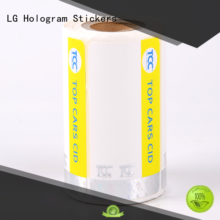 counterfeiting stickers paper LG Printing Brand security hologram