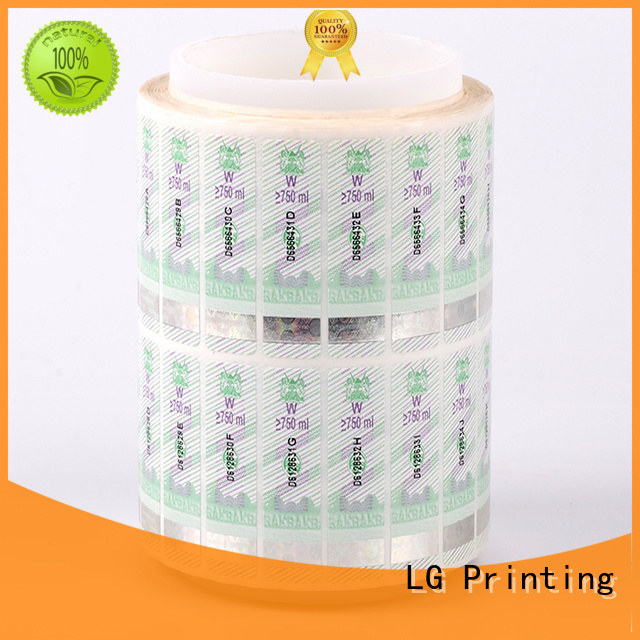 counterfeiting custom security hologram stickers silver factory for box