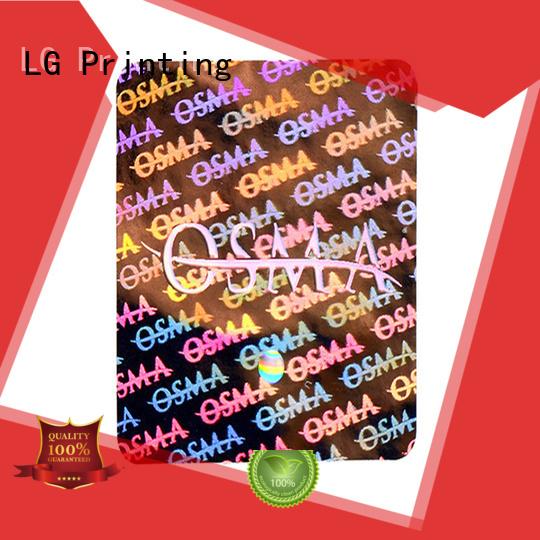 LG Printing colorful hologram printing hologram for box