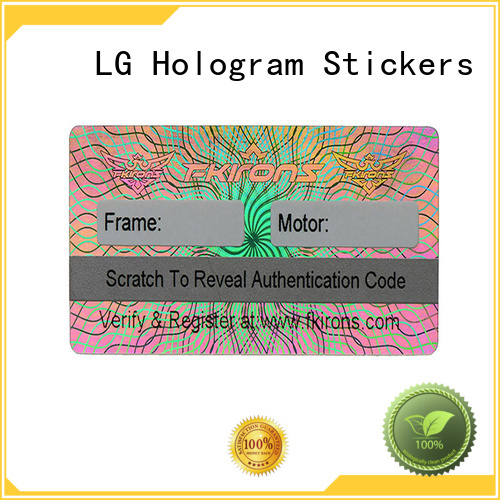 LG Printing stickers void sticker label for box