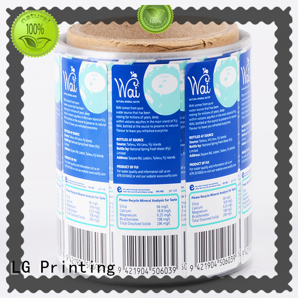 LG Printing printed custom waterproof labels supplier for cans