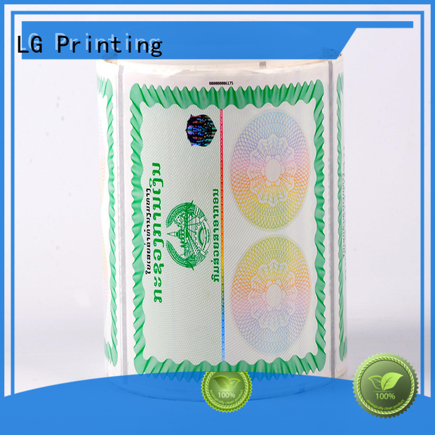 LG Printing number hologram stickers uk manufacturer for products