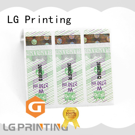 LG Printing Latest waterproof labels for bottles printing Supply for box