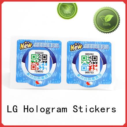 LG Printing self adhesive labels factory manufacturers for box
