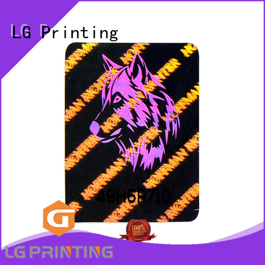 LG Printing colorful hologram sticker printing one for box