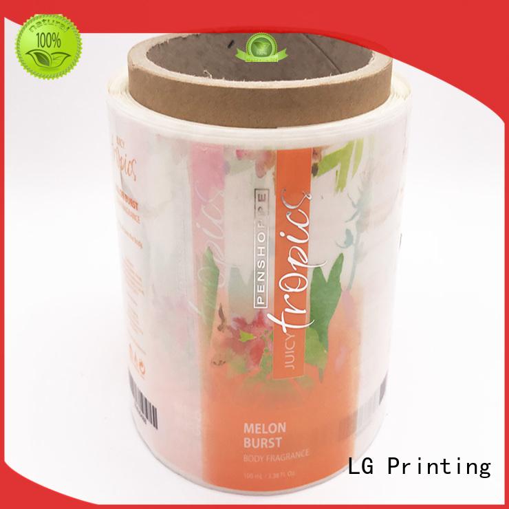 LG Printing foil vinyl labels supplier for bottle
