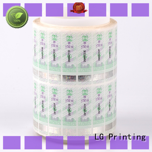 LG Printing PVC personalised hologram stickers manufacturer for goods