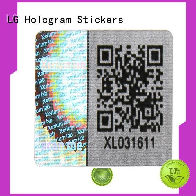 hologram sticker golden for door LG Printing