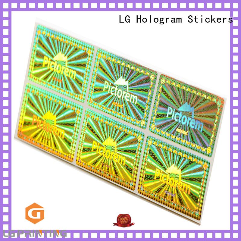 various hologram sticker golden supplier for box
