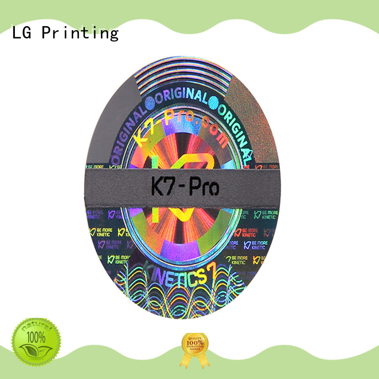 LG Printing hologram custom holographic labels supplier for door