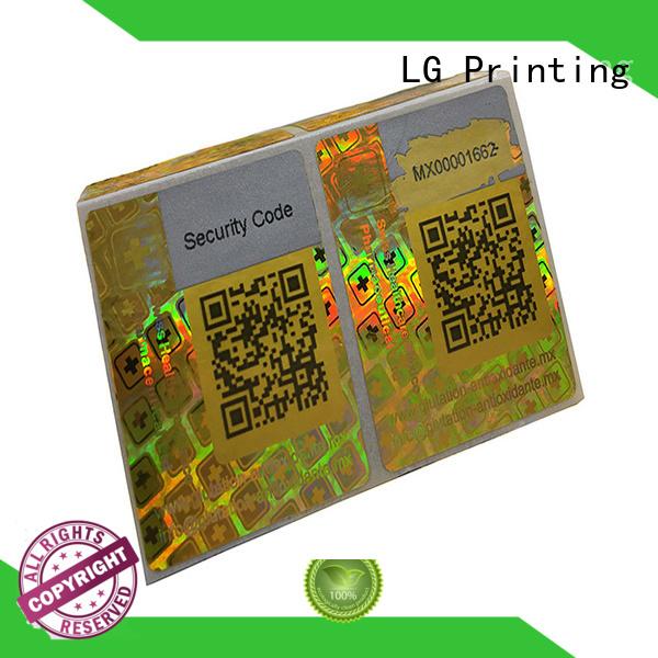 LG Printing numbering laser hologram manufacturer for refrigerator