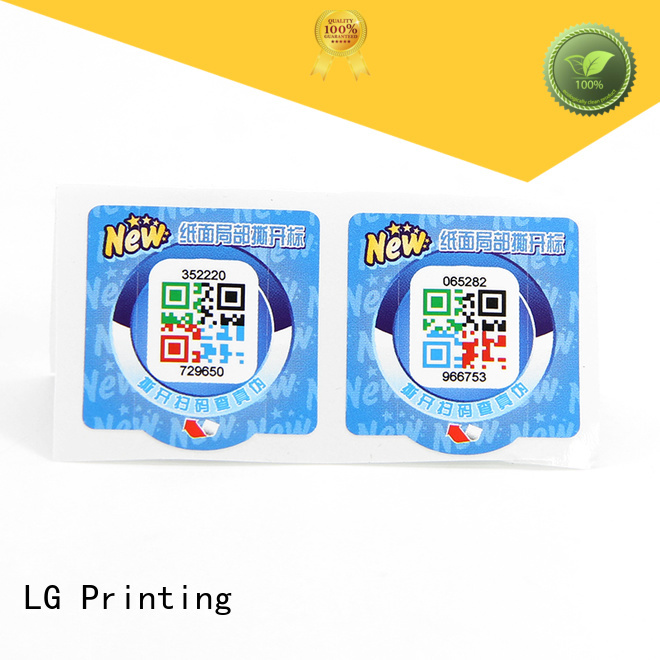 LG Printing Best holographic label printers for business for box