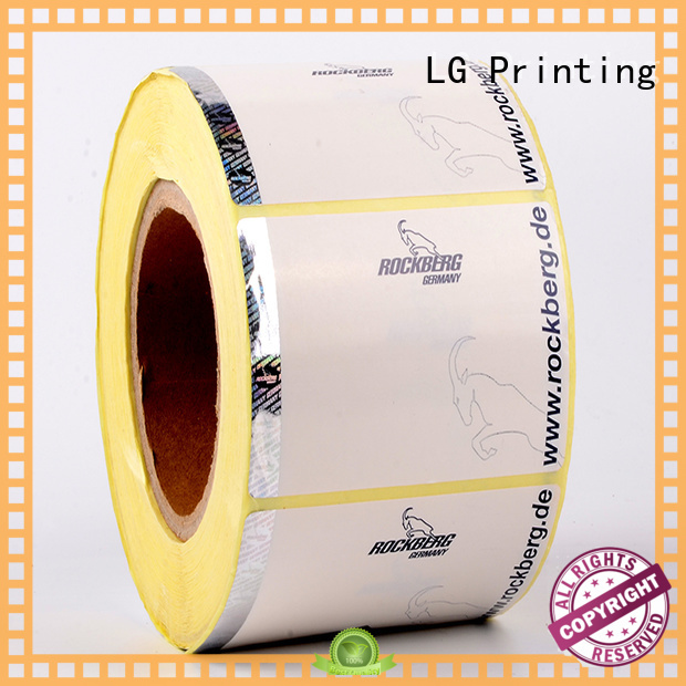 paper stickers LG Printing Brand security hologram labels