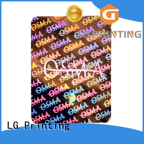 LG Printing various silver security stickers supplier for door