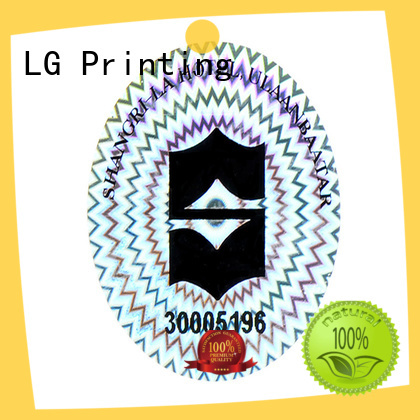 LG Printing logo holographic sticker maker series for table