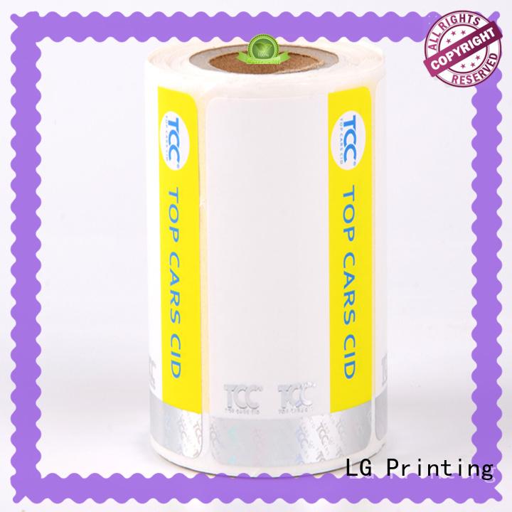 LG Printing randomly buy hologram stickers factory for bag
