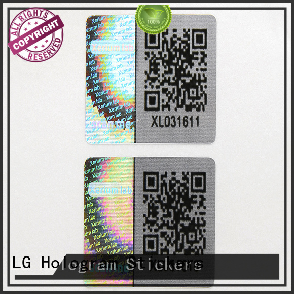 3d hologram sticker void qr code LG Printing Brand company