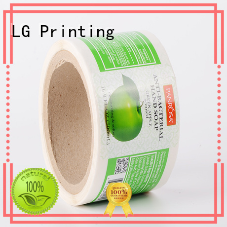 LG Printing quality plastic stickers manufacturer for bottle
