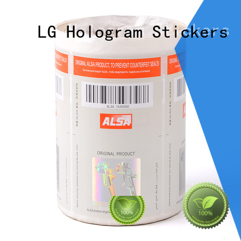 security sticker printing fake for box LG Printing