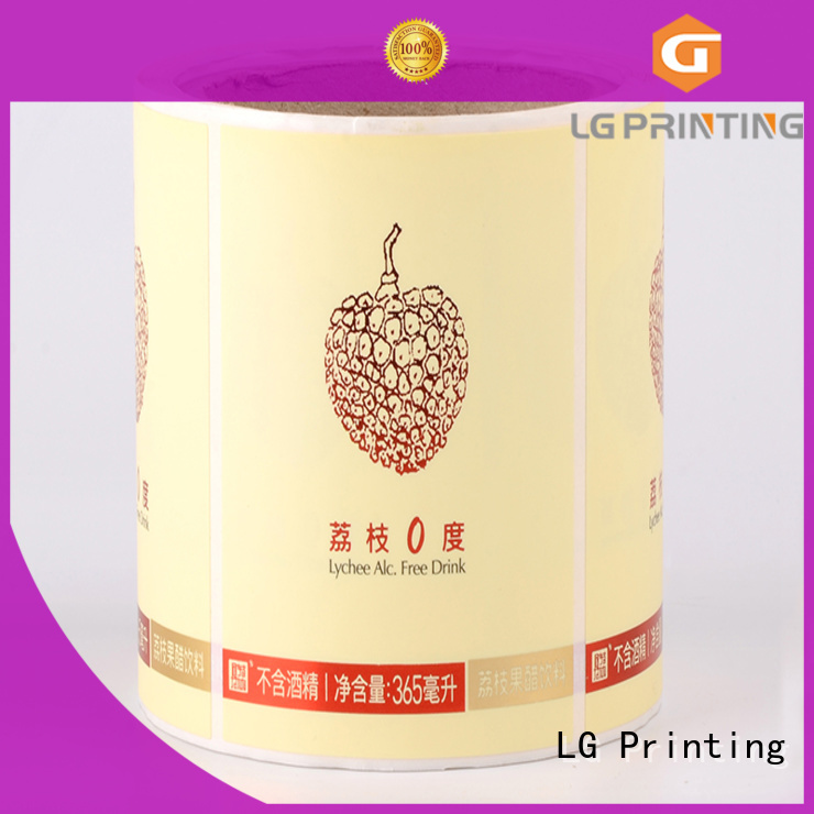 LG Printing bopp custom product labels factory for cans