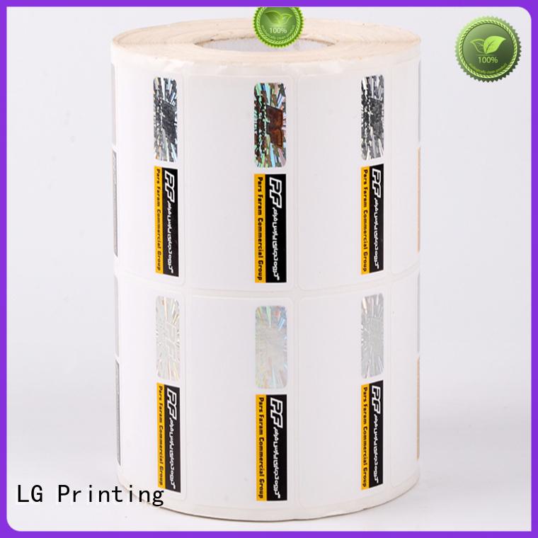 LG Printing Brand printing sticker serial number security hologram labels foil supplier