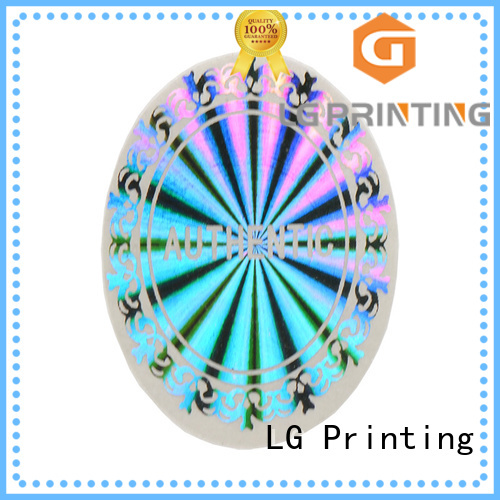 LG Printing colorful delta security sticker manufacturer for door