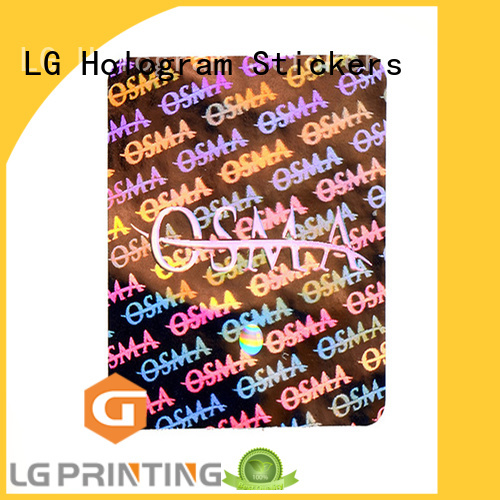 LG Printing roll window stickers for business logo for box