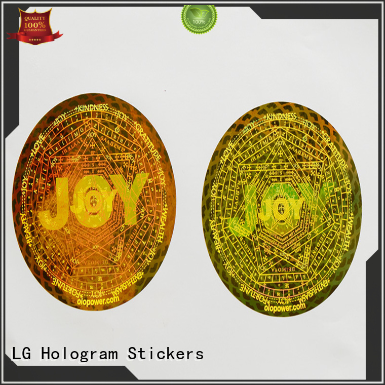 LG Printing Brand holographic security custom shape 3d hologram sticker printing