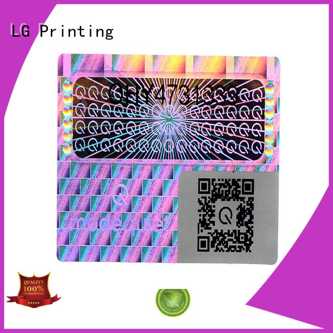 LG Printing void foil lables logo for box