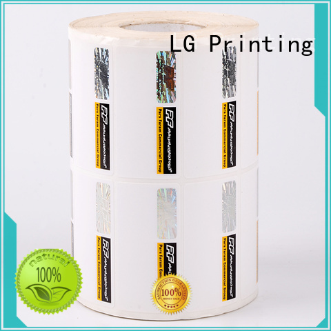 asset security stickers silver for goods LG Printing